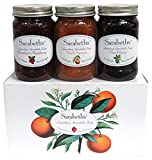 Sarabeth's 3 Jar Set, Peach Apricot, Strawberry Raspberry, and Mixed Berry, 18 oz each