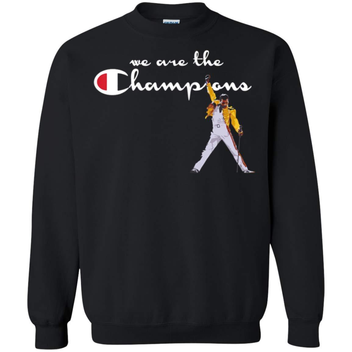 50196c0d47a0 Amazon.com: Freddie Mercury We are The Champions Crewneck Sweatshirt for Men  Women: Clothing