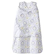 Halo SleepSack 100% Cotton Swaddle, Ikat Damask Blue, Newborn