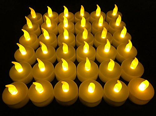 Flameless LED Tea Light Candles, Vivii Battery-powered Unscented LED Tealight Candles, Fake Candles, Tealights (36 Pack) (Tea Lights)