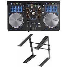 Hercules 4780773 Universal DJ Controller Bundle Includes Laptop Stand