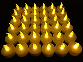 Flameless LED Tea Light Candles, 36 PK Vivii Battery-Powered Unscented LED Tealight Candles, Fake Candles, Tealights (36...