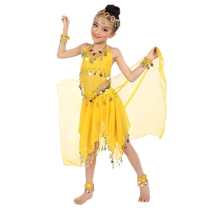 XFentech Exquisito Niña Danza del Vientre Traje de Baile ...
