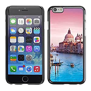 FECELL CITY // Duro Aluminio Pegatina PC Caso decorativo Funda Carcasa de Protección para Apple Iphone 6 // Architecture Venice Cathedral