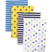 Gerber Baby 4 Pack Flannel Burp Cloth, Multi/Sport, One Size
