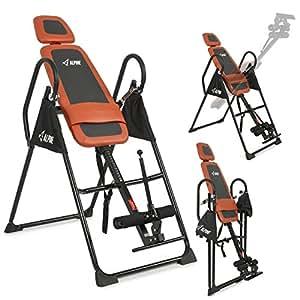 Akonza Pro Deluxe Inversion Table Exercise Back Reflexology Foldable, Orange