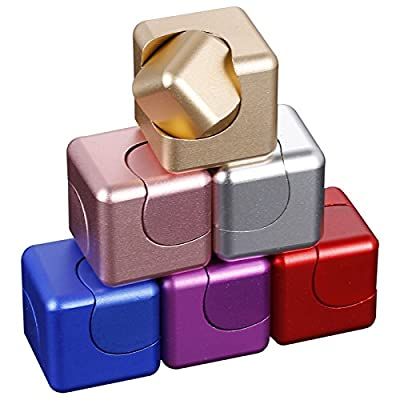 Gyro Rubik's Cube Fidget Finger Hand CNC Machined Aluminum Spinner For Stress and Anxiety Relief