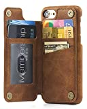 iPhone 7 Card Holder Case, iPhone 7 Wallet Case Spaysi(TM) Slim, iPhone 7 Folio Leather case 2017, Gift Box, Apple for iPhone 7 (Brown)