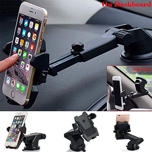 Leoie Universal Car Holder Windshield Suction Cup Mount Stand for Cell Phone GPS (Somerset Cup)
