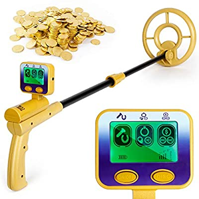 INTEY Metal Detector 2 Modes High Accuracy and Adjustable for Adults and Kids, Detector Water Proof Beach for Teens, Beginners Professional
