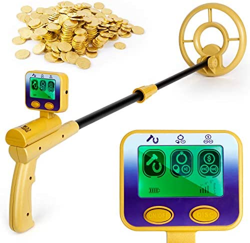 INTEY Metal Detector Water Proof for Adults and Kids-High Accuracy Metal Detector Adjustable 2 Modes with LCD Display