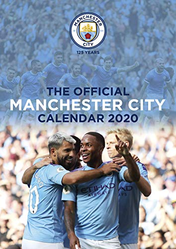 iPosters Bundle - 2 Items - Manchester City FC Official 2020 Wall Calendar - Closed Size : 42 x 29.5 cm (16.5 x 11.5 Inches) and a Sheet of 70 Multi Colour Self Adhesive Dot Stickers