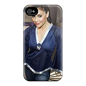 Phone Case Alyssa Milano Celebrity Inpainted Feeling Iphone 4/4s On Your Style Birthday Gift Cover Case