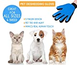 Shop Top Pets Pet Grooming Gloves Rubber Groomer for Dogs & Cats with Short Or Long Hair | Furniture Deshedding Tool with Soft Massaging Tips | Comfortable Pet Hair Removal & Fur Shedding