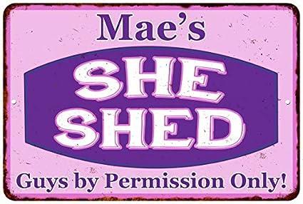 Amazon Com Chico Creek Signs Mae S Purple Pink She Shed