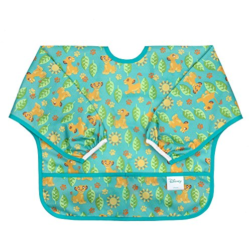 Price comparison product image Bumkins Disney Baby Waterproof Sleeved Bib, Lion King Simba (6-24 Months)