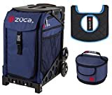 Zuca Sport Bag -Midnight with Gift Lunchbox and Seat Cover (Black Non-Flashing Wheels Frame)