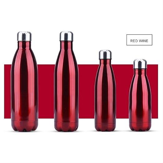 Botella de agua 350/500/750/1000 ml, doble pared, creativa ...