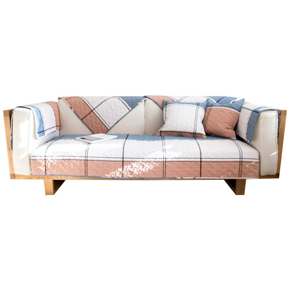 KELE Nordic Style Sofa slipcover Cotton Couch Cover,1-Piece Stain Resistant Anti-Slip Quilted Window Cushion pad Furniture Protector-A 28'' W X 71'' H