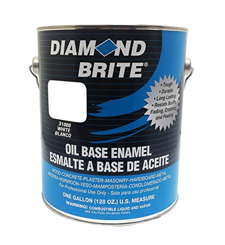 Diamond Brite Paint 31000 1Gallon Oil Base All Purpose Enamel Paint   White