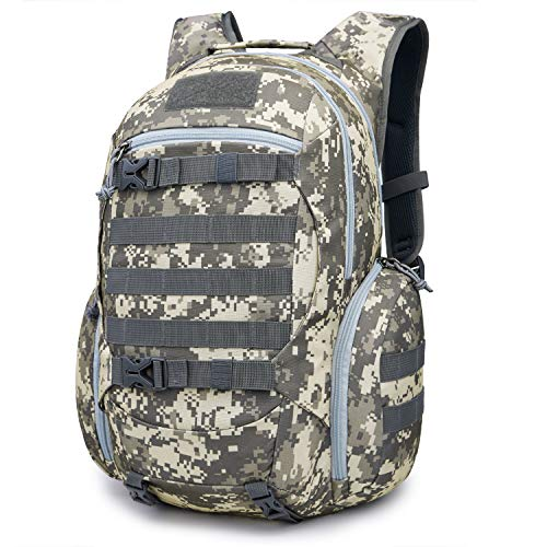 Mardingtop 28L Tactical Backpacks Molle Hiking daypacks for Camping Hiking Military Traveling 28L-Camo Khaki Grid