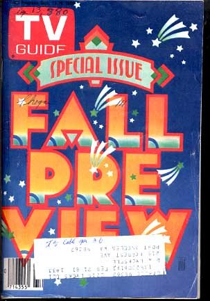 TV GUIDE 9/13/1980-FALL PRE-VIEW ISSUE G