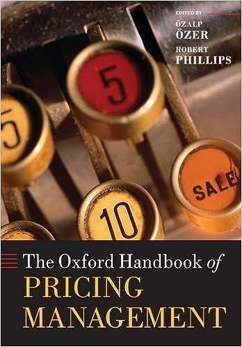 The Oxford Handbook of Pricing Management (Oxford Handbooks in Finance) by Özer, Özalp, Phillips, Robert 1st edition (2014)