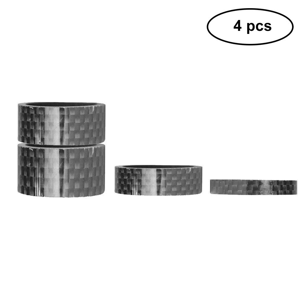 Fixie Gear MTB 5//10//15//20mm, 4 Size, 4Pcs BMX Cycling. BMX Headset Spacers Carbon Fiber Headset Spacers Mountain Bike Stem Spacers for Most Bicycle Road Bike Litetop