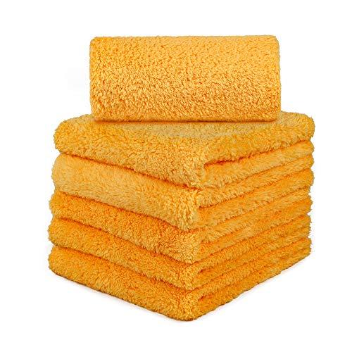 CARCAREZ Microfiber Car Wash Drying Towels Professional Grade Premium Microfiber Towels for Car Wash Drying 16 in.x 16 in. Pack of 6 by CARCAREZ (Image #7)