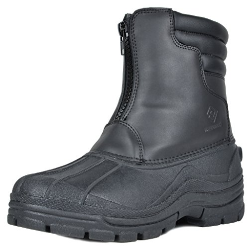 DREAM PAIRS Men's Indiana-1 Black Insulated Waterproof Winter Snow Boots Size 13 M US