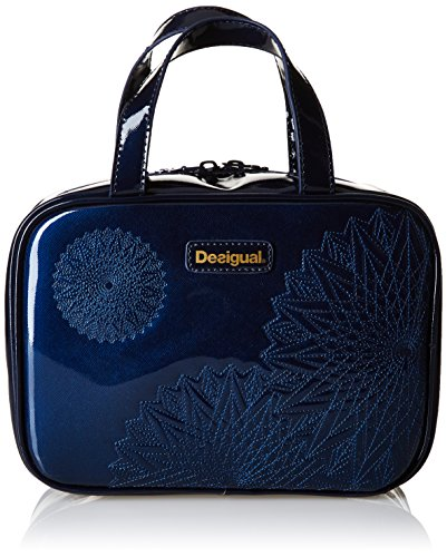 Desigual TRAVEL KATE - Beauty Case Donna, Blu (5047), 24.50x17.50x9.50 cm (B x H x T)
