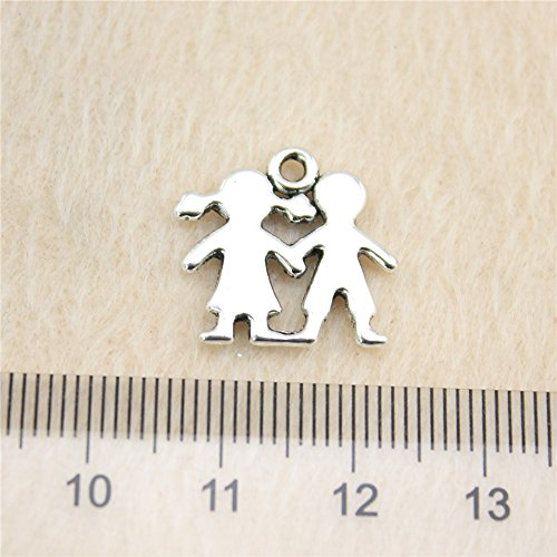 - NEWME 50Pcs boy and girl Charms Pendant For DIY Jewelry Wholesale Crafting Bracelet and Necklace Making