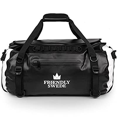The Friendly Swede Waterproof Duffel Bag Backpack Roll-Top Dry Bag 35L • Welded Seams • Eco-Friendly PVC • Ergonomic Straps - VAXHOLM