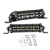 LED Light Bar 6 Inch, Swatow Industries 2PCS 96W Slim Dual Row Spot Flood Combo LED Pods Off Road LED Driving Lights for Truck Offroad SUV UTV ATV Boat - 2 Years Warranty