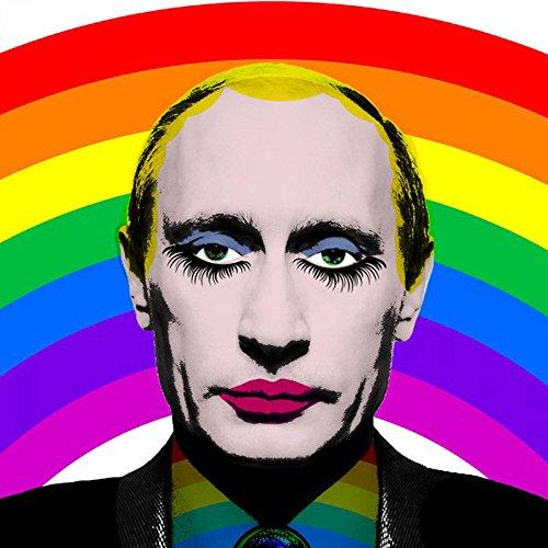 Gay Putin T-Shirt Russian Rainbow -504