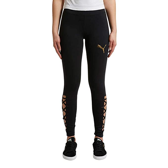 802072ae9758d PUMA Ladies' Lace-Up Legging at Amazon Women's Clothing store: