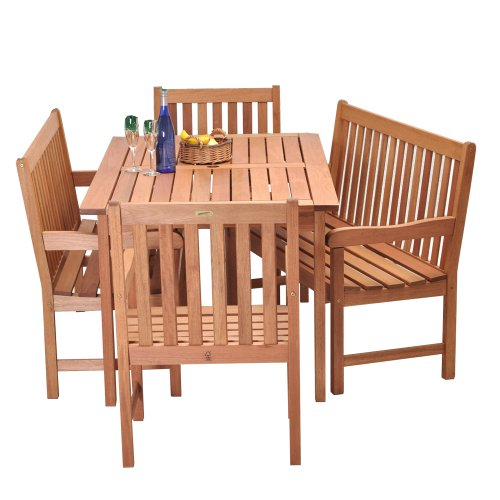 Amazonia Milano 5-Piece Bench Set