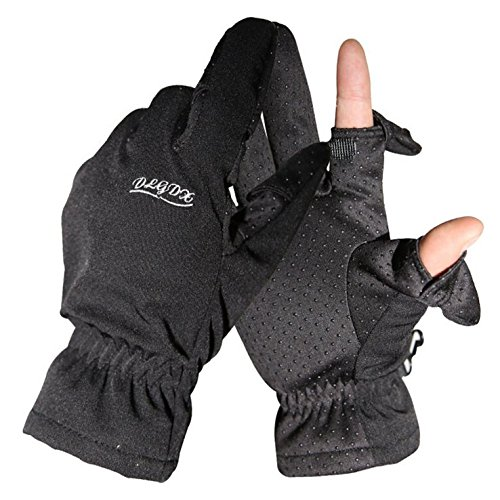 Qiu Ping Photography Fishing Winter Windproof 2 Finger Gloves