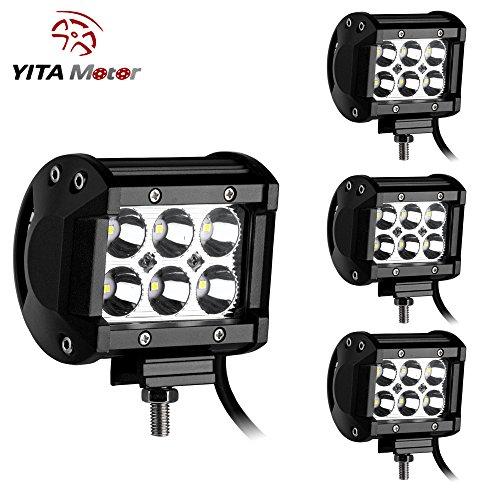 YITAMOTOR-Led-Light-Bar-4PCS-18W-Dual-Rows-LED-Light-Work-Spot-Beam-Driving-Fog-Offroad-SUV-4WD-Car-Truck