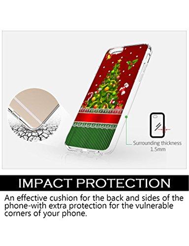 iPhone 6 / 6S (4.7 Zoll) Hülle i6 / 6S Frohe Weihnachten roten und grünen Weihnachtsbaum für case I Phone6 / 6S iCreat