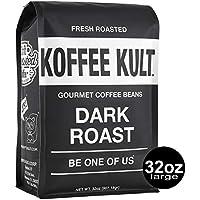 Koffee Kult Dark Roast 32oz Coffee Beans (Whole Bean Coffee)