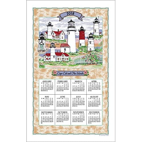 Cheap 2018 Cape Cod Lighthouse Collage Calendar Towel for cheap