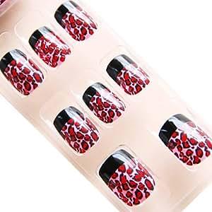 amazoncom kaifina europe lovely leopard style nail art