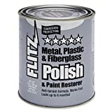 Flitz CA 03518-6 Blue Metal, Plastic and Fiberglass Polish Paste, 2.0-Pounds, Quart Can