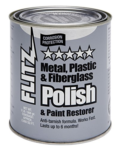 Flitz CA 03518-6 Blue Metal, Plastic and Fiberglass Polish Paste, 2.0 lbs. Quart Can (Magnesium Pewter Finish)