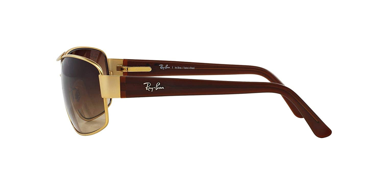 ca17edad768a44 Amazon.com  Ray-Ban RB3503L Non-Polarized Sunglasses, Matte Gold   Brown  Gradient Dark Brown, 65 mm  Clothing
