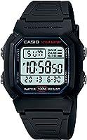 Casio W-800H-1AVCF Reloj Digital para Hombre, Negro