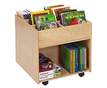 Kinder Bücherregal unbekannt flexeo 85622 bücherregal buchmobil holz auf rollen 58 5