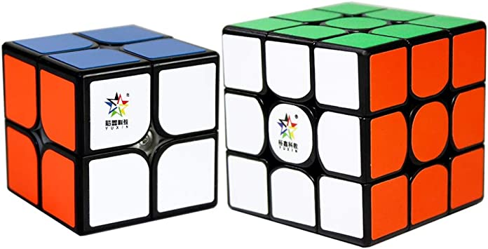 OJIN YuXin Little Magic Speed Cube Bundle 2x2 3x3 Bright Magic Cube Set Speed Cube Puzzle Sets-Pack de 2 Smooth Puzzle Cube 2x2x2 3x3x3, Colección Yuxin Speed Cube (Negro): Amazon.es: Juguetes y