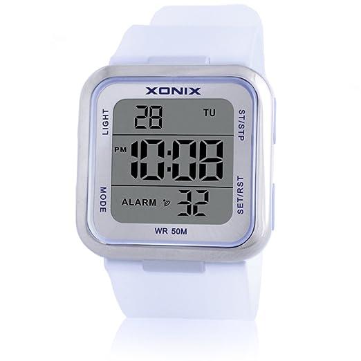 Niños ver niña niño estudiante impermeable led reloj digital-E: Amazon.es: Relojes